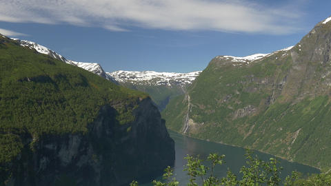 1080p, Geiranger Fjord, Norway Stock Video Footage