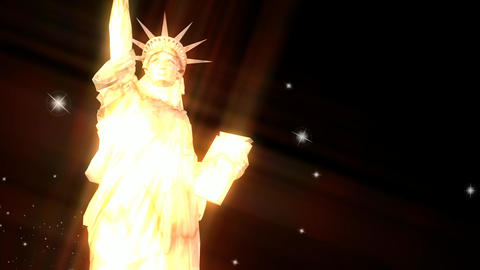 Animation Of The Liberty Statue stock footage