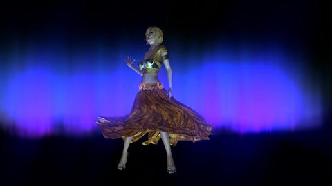 Animation of a dancing Woman Stock Video Footage