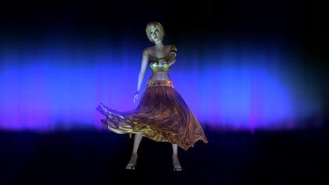 Animation of a dancing Woman Animation