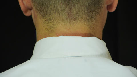 Man prepares himself to put a noose around his nec Stock Video Footage