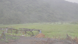 Typhoon Matmo Blowing Across A Farm stock footage