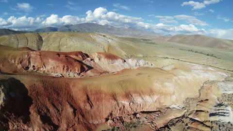 Aerial Stock Footage Flight Above Red Mountains Stock Video Footage