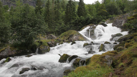 Waterfall in Norway Footage