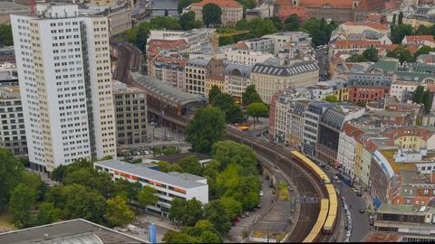 berlin traffic aerial time lapse tilt pan 11426 Footage