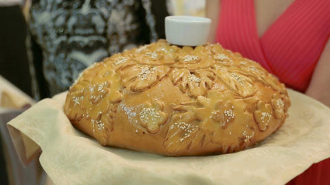 Wedding Loaf stock footage