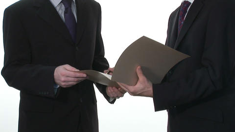Business Stock Footage Of Two Businessmen stock footage