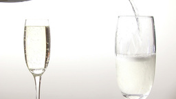 Stock Footage Pouring Champagne into a Glass Footage