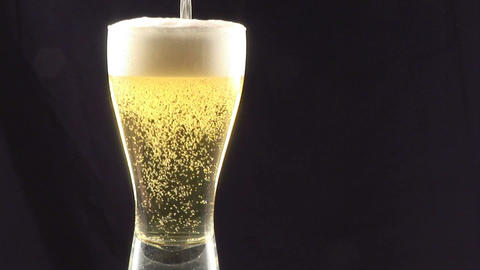 Stock Footage Pouring Beer Into a Glass Footage