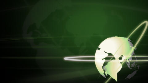 Background Animation Globe in Green Footage