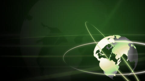 Background Animation Globe in Green Stock Video Footage