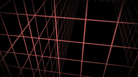 Background Animation Mesh Red Stock Video Footage