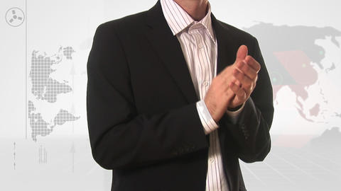 Stock Footage Of A Business Man Applauding stock footage
