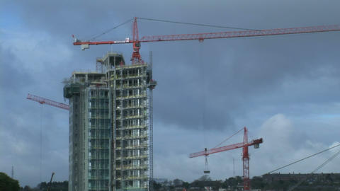 Time Lapse of Construction Site Stock Video Footage