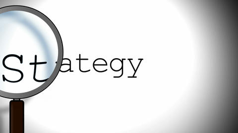 Strategy Magnifying Glass Stock Video Footage