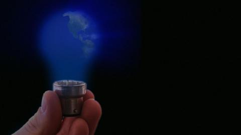 Globe Light bulb 1 Footage