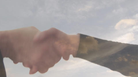 Stock Footage of a Businessman Handing over Keys Footage