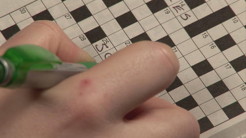 Stock Footage Crossword Stock Video Footage