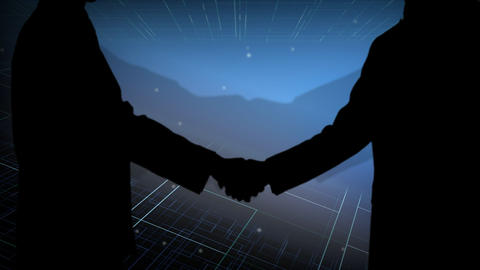 Stock Animation Handshake stock footage