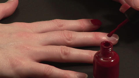 Stock Footage of a woman Painting her Nails Stock Video Footage