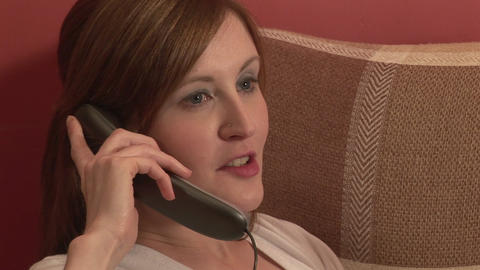 Stock Footage of a Woman on the Telephone Stock Video Footage