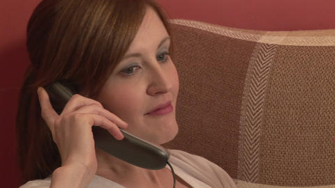 Stock Footage of a Woman on the Telephone Footage