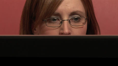 Stock Footage of a Woman Working from Home Footage