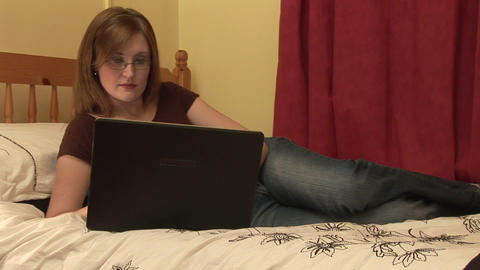 Stock Footage of Woman Relaxing at Home Stock Video Footage