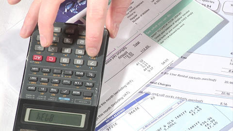 Stock Footage Home Finances Live Action