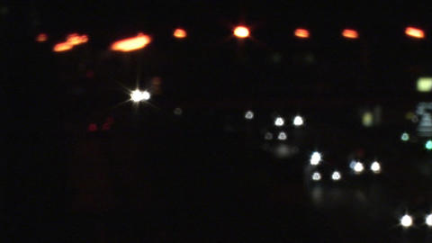 Stock Video of Traffic Headlights Footage
