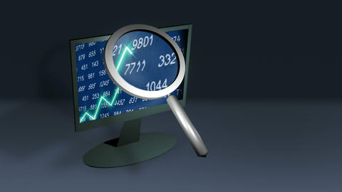 Stock Video Of 3D Graph stock footage