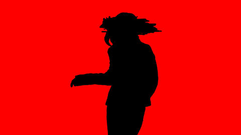 Stock Animation of a Silhouetted Dancer Stock Video Footage