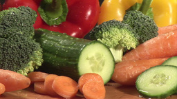 Stock Footage of Vegetables Footage