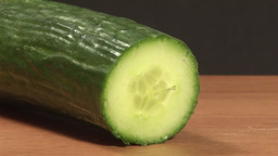 Time Lapse Stock Footage of Chopping Cucumber Stock Video Footage