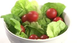 Stock Footage of Preparing a Healthy Salad Stock Video Footage