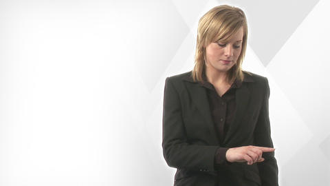 Businesswoman Presenting Stock Video Footage