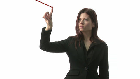 Woman Drawing Graph Footage