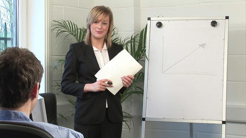 Business Woman Giving A presentation Stock Video Footage