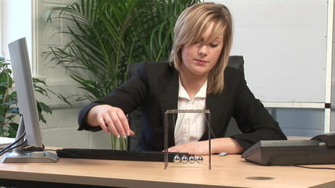 Business Woman Bored in the office Stock Video Footage
