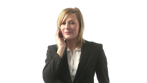 Business Woman Talking on Phone Stock Video Footage
