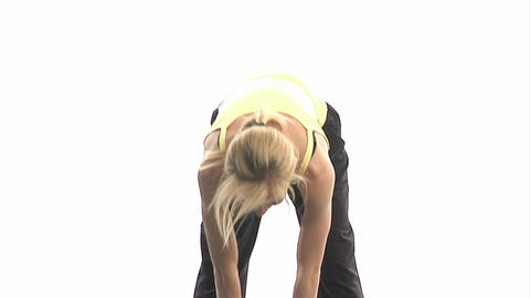 Young woman doing workout Stock Video Footage