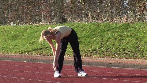 Woman Running on a track Footage