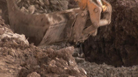 Bulldozer on a Construction Site Stock Video Footage