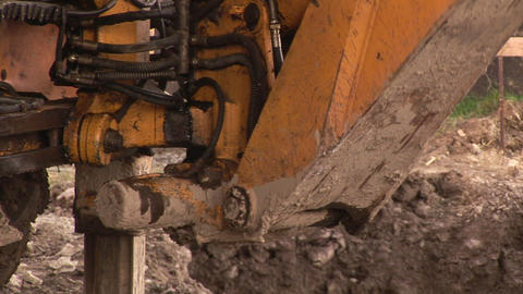 Bulldozer on a Construction Site Footage