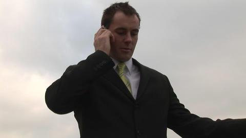 Businessman on the Phone Footage