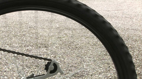 Bicycle wheel Stock Video Footage