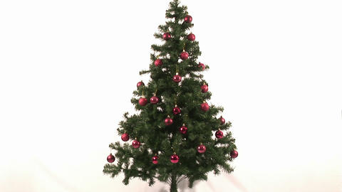 Time Lapse Of Decorating Christmas Tree stock footage