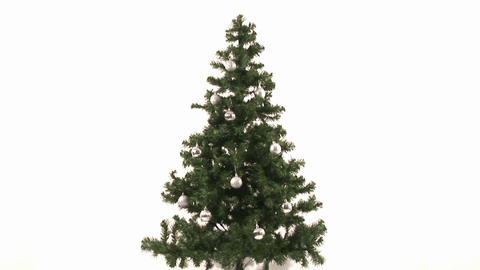 Time Lapse of Decorating Christmas Tree Stock Video Footage