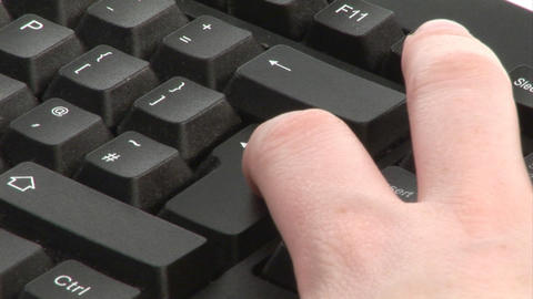 Woman Typing on Keyboard Footage