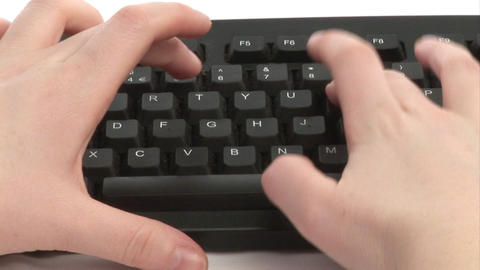 Woman Typing on Keyboard Stock Video Footage